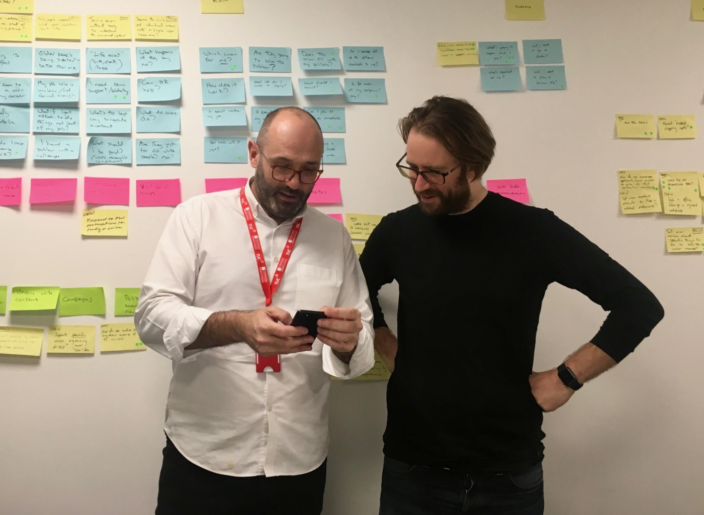 Richard and Carl, discussing the prototype